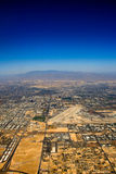 Aerial view over Las Vegas Stock Photos