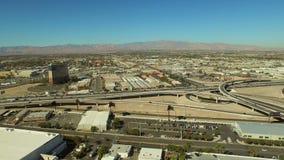 Las Vegas Aerial Strip Freeway Suburbs stock video footage