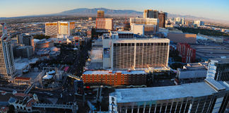 Las Vegas aerial view Royalty Free Stock Images