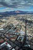 Las Vegas aerial view with mountain Royalty Free Stock Photos