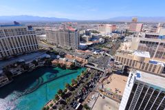 Las Vegas aerial view Royalty Free Stock Photos