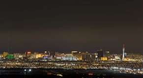 Las Vegas Airport and The strip 2. Las Vegas Airport at dusk with city background Stock Image