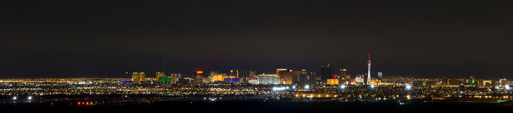 Las Vegas Airport and The strip pano. Panoramic image of Las Vegas strip and an airport at the foreground Stock Photo