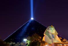 Las Vegas alla notte fotografie stock