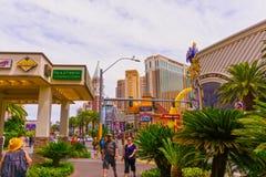 Las Vegas Amerikas förenta stater - Maj 05, 2016: Yttersidan av hotellet och kasinot för Harrah ` s på remsan Fotografering för Bildbyråer