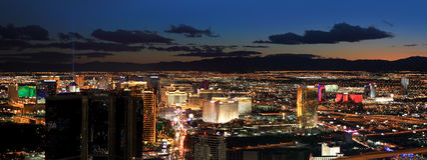 Las Vegas areal view Stock Photo