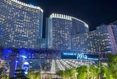 Las Vegas Aria. LAS VEGAS - JUNE 14 : The Aria Resort and Casino in Las Vegas on June 14 2016. The Aria is a luxury resort and casino opened on 2009 and is the stock images