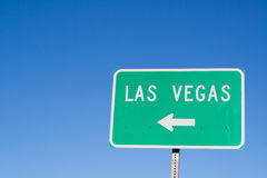 Las Vegas Arrow Sign Stock Photo