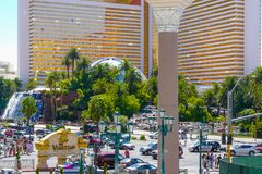 Siren s cove Boulevard Las Vegas royalty free stock photos
