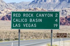 Las Vegas autostrady znak Zdjęcie Royalty Free