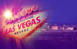 Las Vegas begreppsfoto Arkivbild