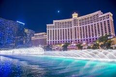 Las Vegas, Bellagio fontanny Zdjęcia Stock