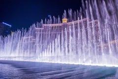 Las Vegas, Bellagio fontanny Zdjęcia Royalty Free