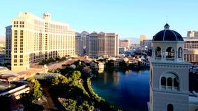 Las Vegas Bellagio fountains at daytime, September 12,2014 Las Vegas, Nevada stock video