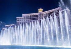 Las Vegas Bellagio springbrunnar Arkivbild