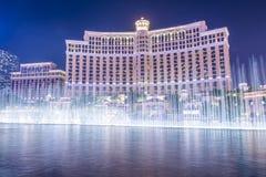Las Vegas Bellagio springbrunnar Arkivbilder