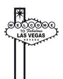 Las Vegas benvenuta Fotografia Stock