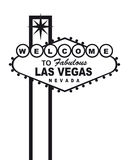 Las Vegas bienvenue illustration de vecteur