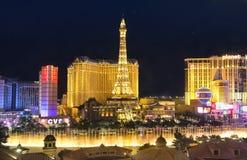 Las Vegas bij nacht stock afbeeldingen
