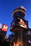 Las Vegas bij nacht Stock Afbeelding