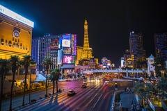 Las Vegas bij nacht stock foto's