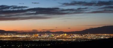 Las Vegas bij Zonsondergang Stock Foto