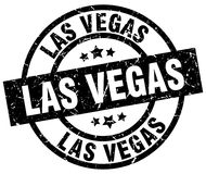 Las Vegas black round stamp stock illustration