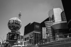 Las Vegas Black and White Paris Hotel Royalty Free Stock Images