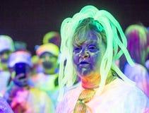 Las Vegas Blacklight Run Royalty Free Stock Photos