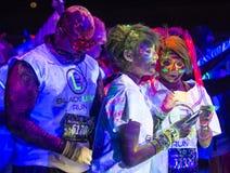 Las Vegas Blacklight Run Stock Photos