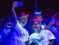 Las Vegas Blacklight Run Royalty Free Stock Photo
