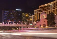Las Vegas Blvd en la noche imagen de archivo