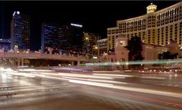Las Vegas Blvd en la noche foto de archivo libre de regalías