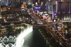 Las Vegas Blvd - Near Flamingo Night Royalty Free Stock Photos