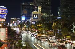 Las Vegas Blvd Night Stock Images