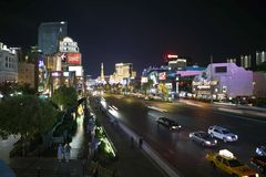 Las Vegas Blvd Night Royalty Free Stock Photo