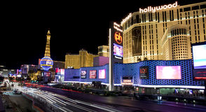 Las Vegas Blvd ocupado fotografía de archivo libre de regalías
