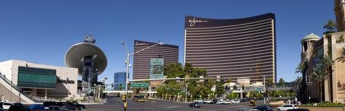 Las Vegas Blvd (panorámico) foto de archivo