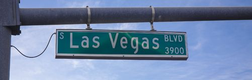 LAS VEGAS BLVD, placa de calle en el día foto de archivo libre de regalías