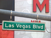 Las Vegas Blvd Road Sign Royalty Free Stock Images