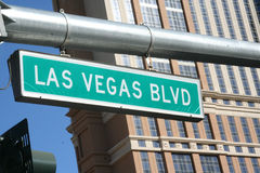 Las Vegas Blvd Sign. Close up royalty free stock photos