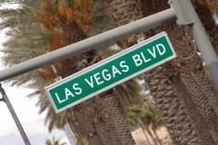 Las Vegas Blvd - tecken Arkivbild