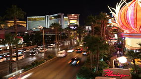 Las Vegas Blvd Time Lapse Night Stock Image