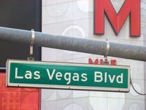 Las Vegas Blvd vägmärke Royaltyfria Bilder