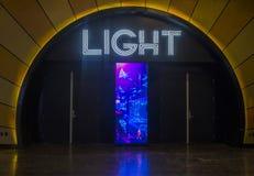 Las Vegas, boîte de nuit légère Images libres de droits