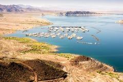 Las Vegas Boat Harbor, Hemenway Harbor on Mead Lake, Nevada Royalty Free Stock Photo