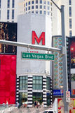 Las Vegas Boulevard. Las Vegas, Nevada USA: Photo of Las Vegas Boulevard with the Miracle Mile Shops in the background Royalty Free Stock Photography