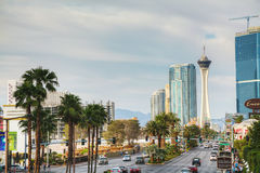 Las Vegas boulevard in the morning Royalty Free Stock Photo