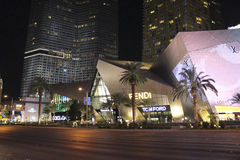 Las Vegas Boulevard na noite Foto de Stock Royalty Free