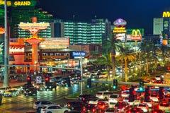 Las Vegas boulevard in the night Stock Photo